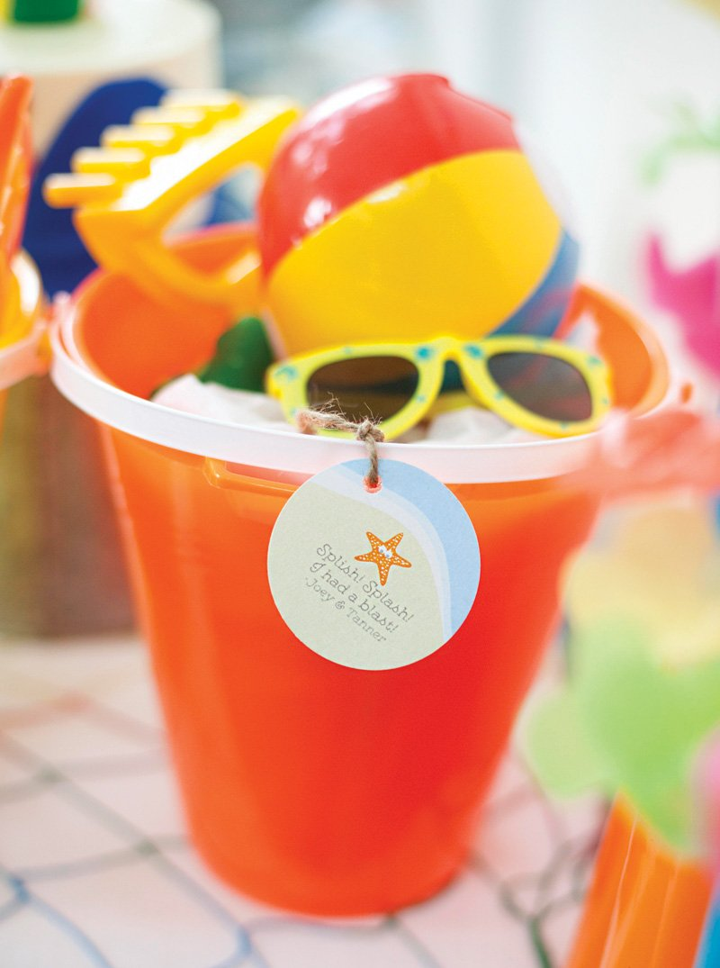 beach bucket party favors