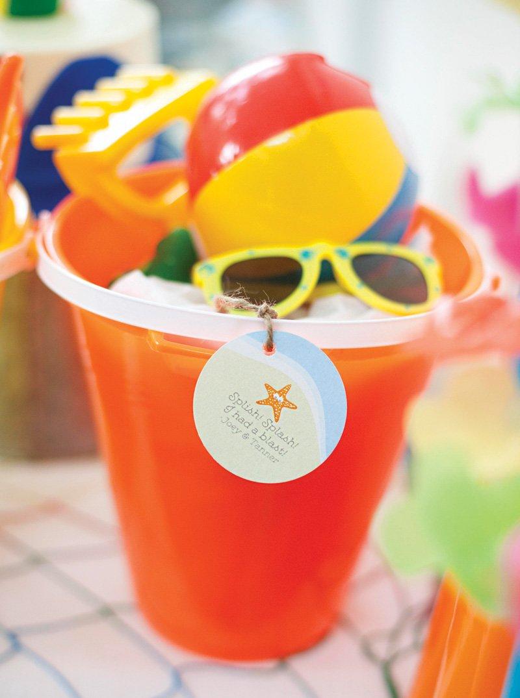 beach bucket party favors