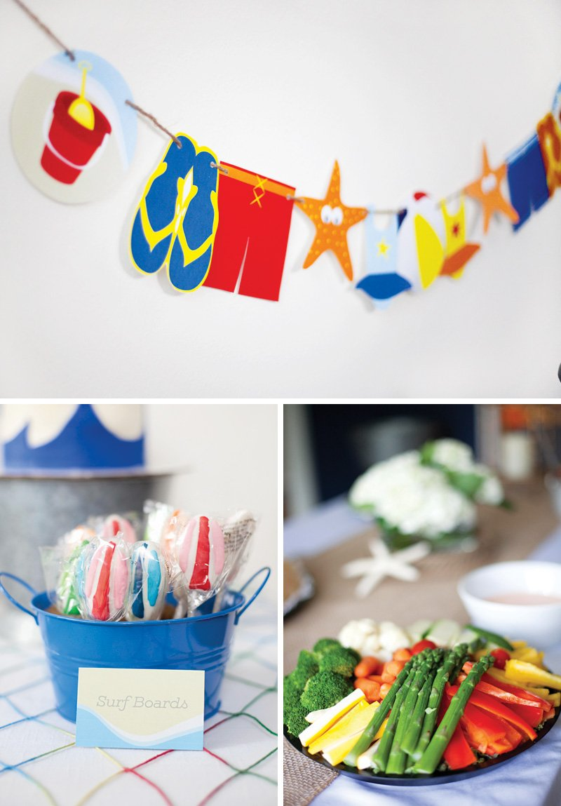 beach inspired party decor