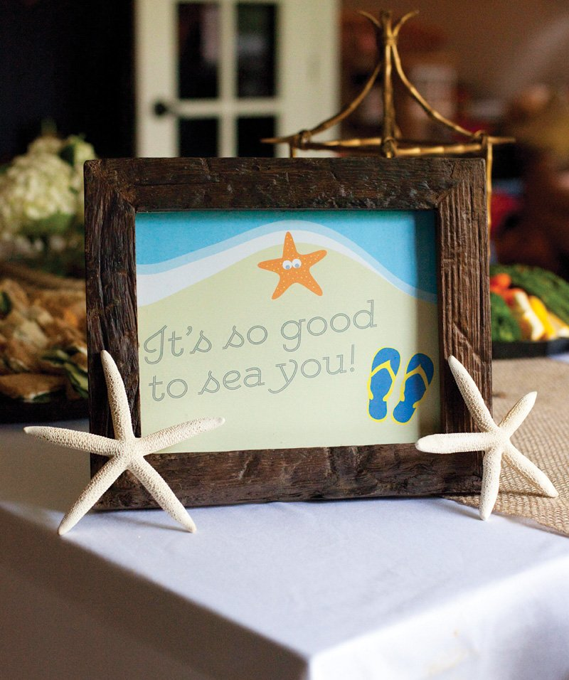 beach party printables sign