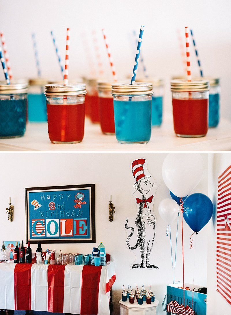 cat in the hat inspired dr seuss party