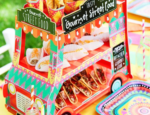 Vibrant Mexican Fiesta Birthday Party {+ Adorable Food Truck Centerpiece}