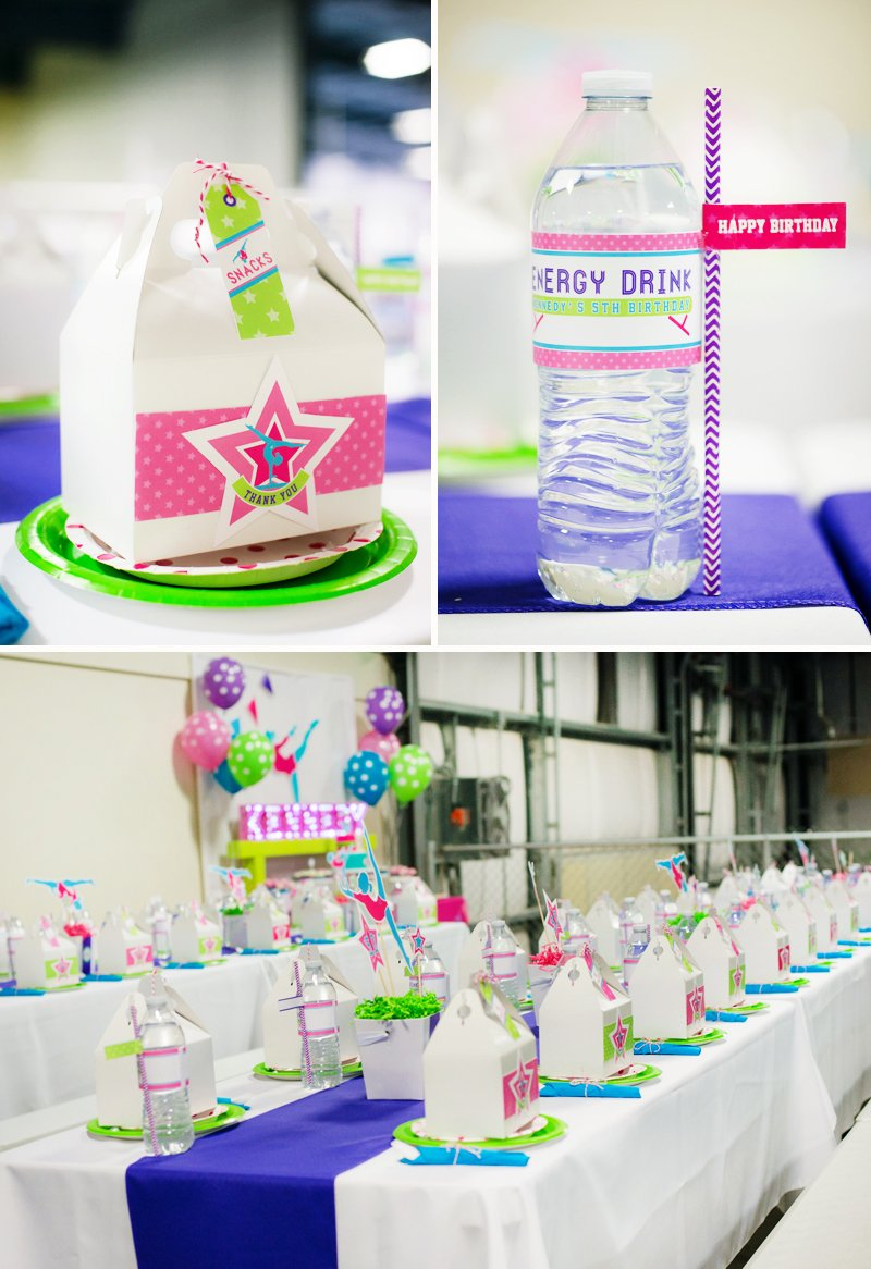 Gymnastics Birthday Party Decorations Bright Coloful Gymnastics Birthday Party Hostess With The