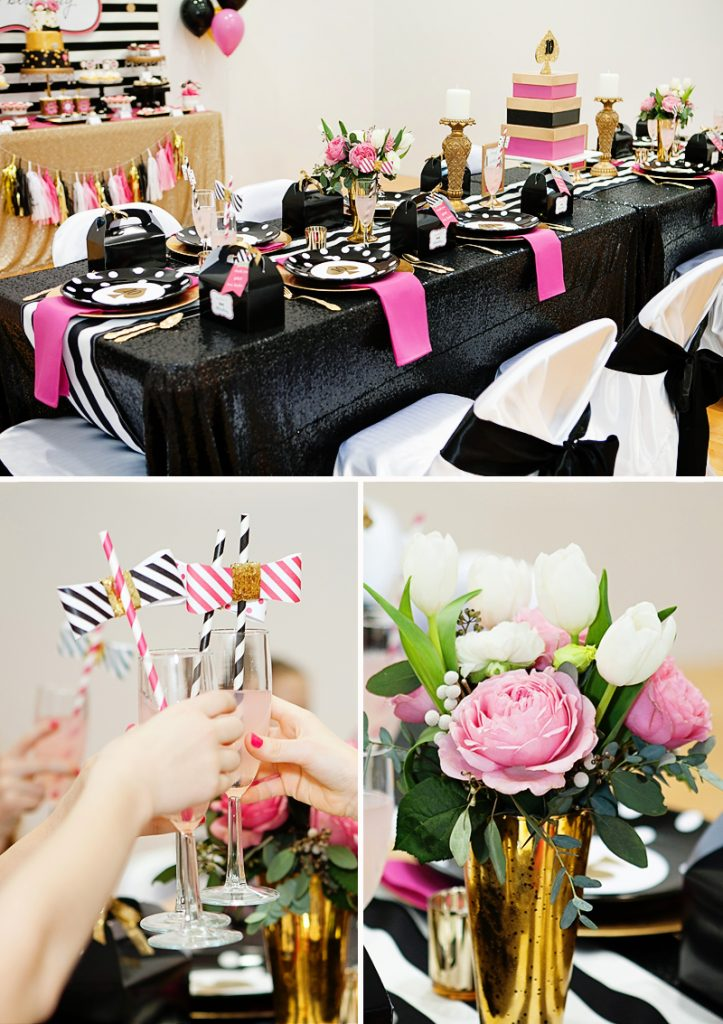 Glitzy Amp Glamorous Kate Spade Inspired Pool Party