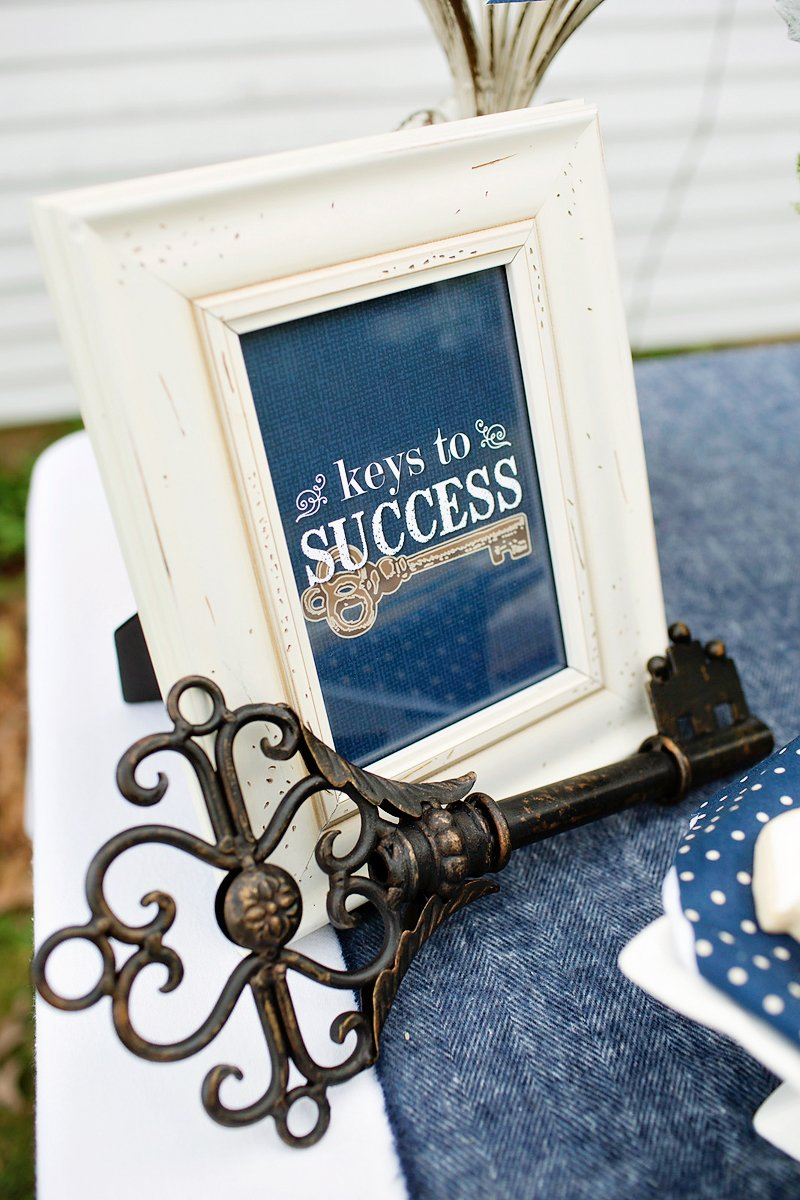 Lovely Amp Rustic Quot Keys To Success Quot Graduation Party