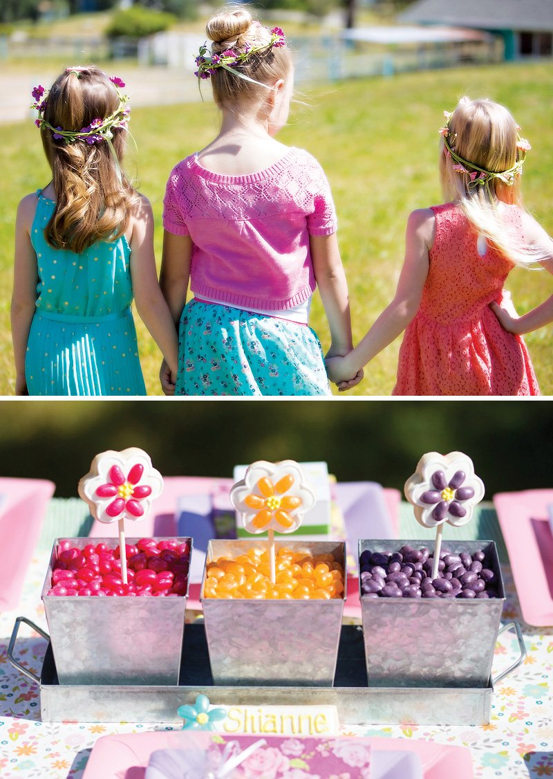 Mother's Day Garden Party + DIY Flower Cookie Pops