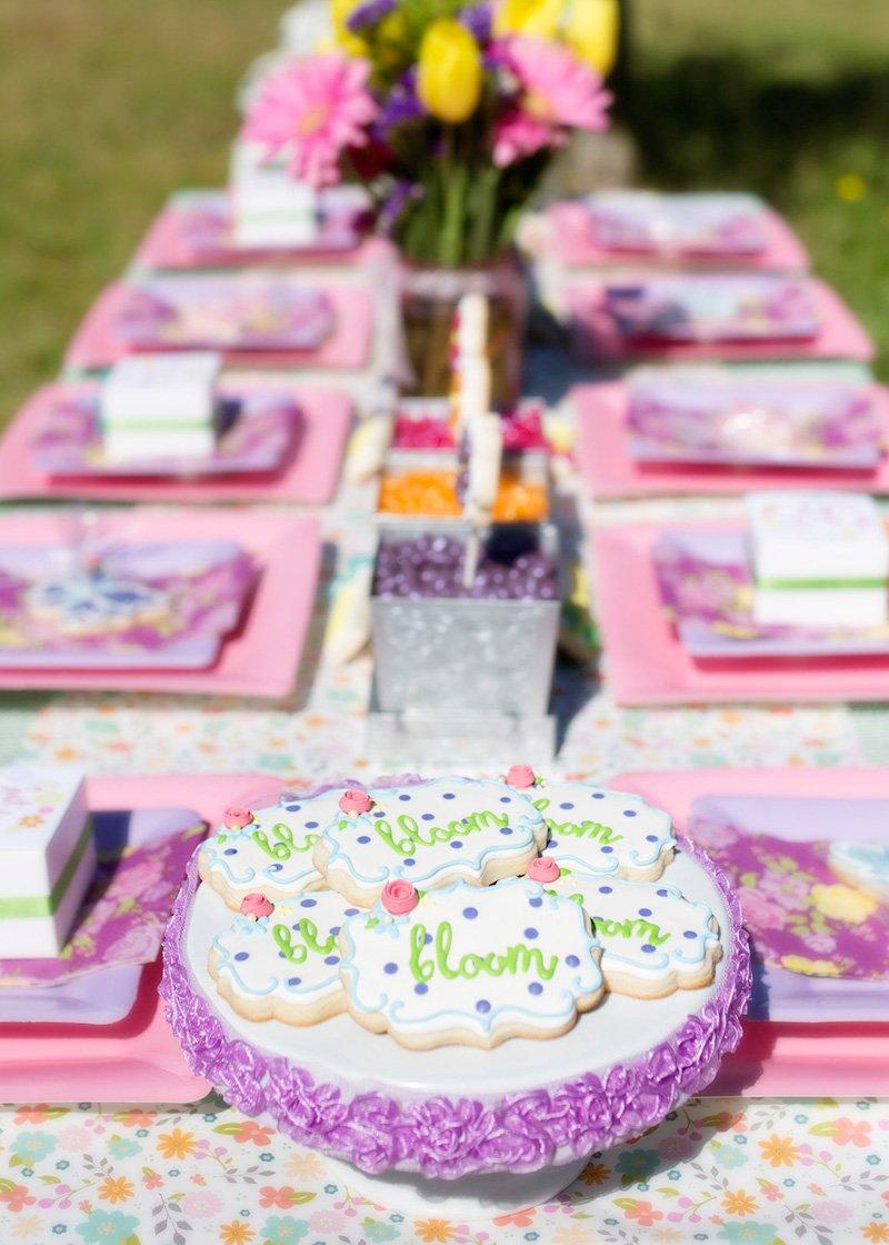 garden party bloom sugar cookies