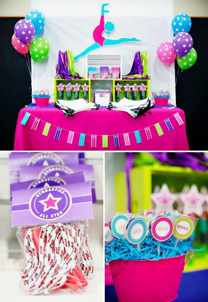 Bright Amp Coloful Gymnastics Birthday Party Hostess With