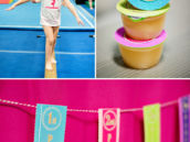 colorful gymnastics birthday party
