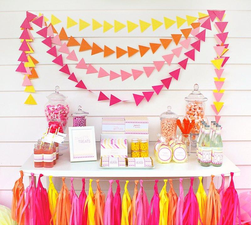 modern pink birthday