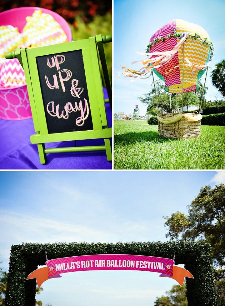 amazing hot air balloon festival birthday