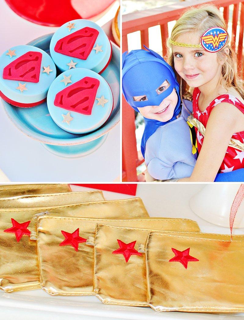 retro super hero spa party