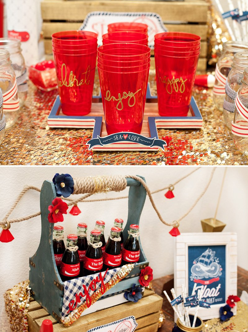 nautical bridal shower drinks