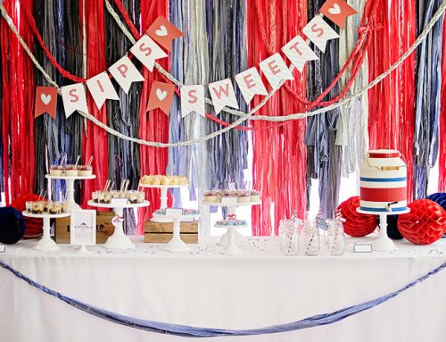 Darling {Vintage-Modern} Americana Bridal Shower