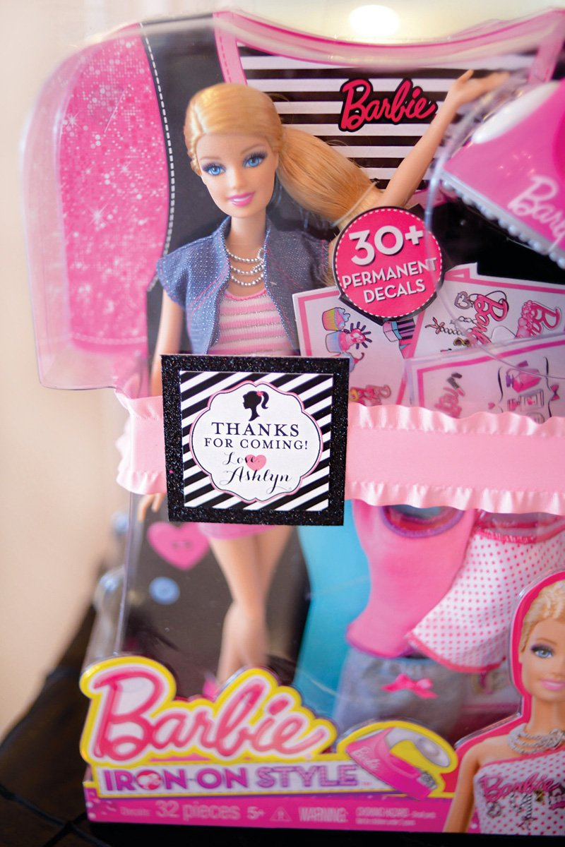 Barbie birthday party favors
