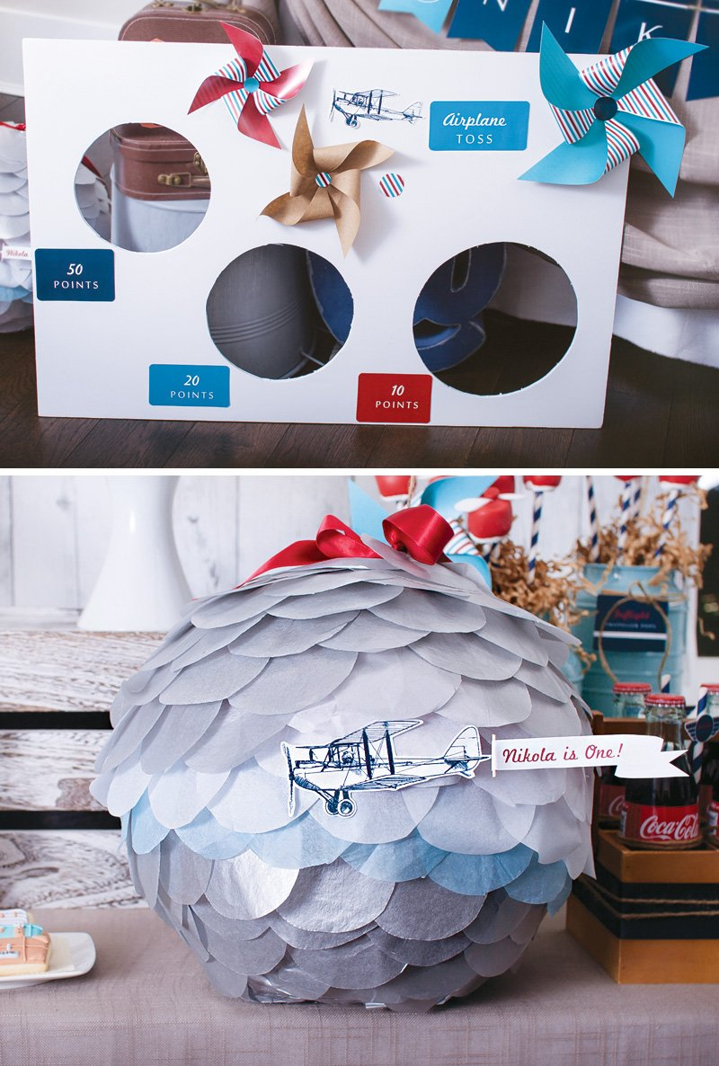 DIY airplane themed party games