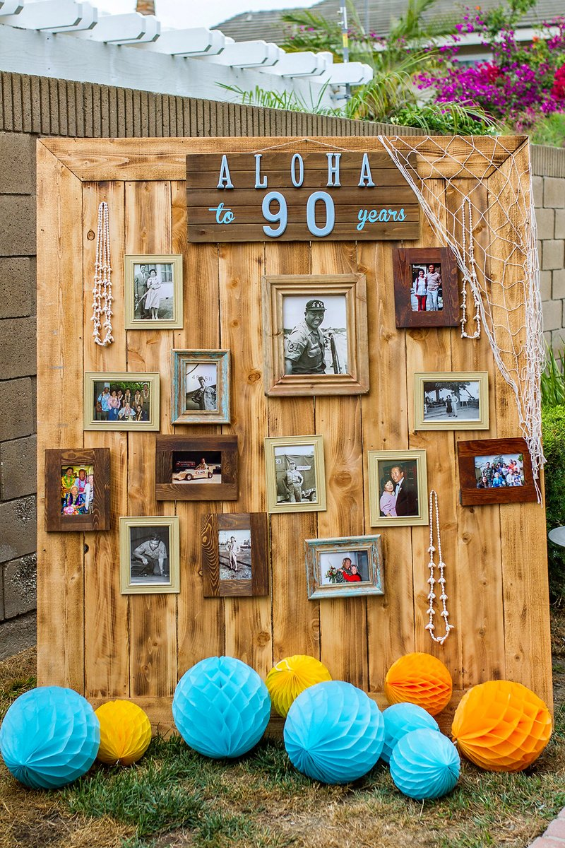vintage hawaiian luau birthday party