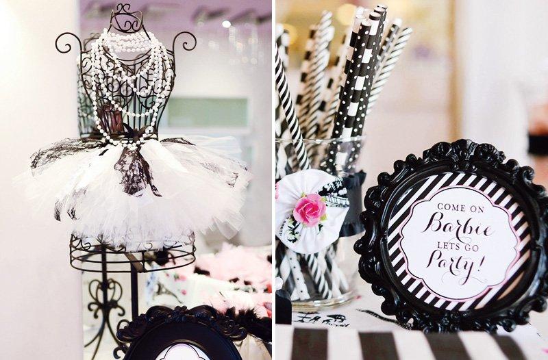 black and white fashion show birthday party