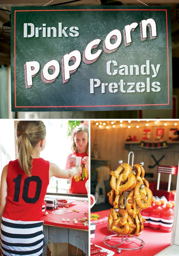 concessions style birthday party food