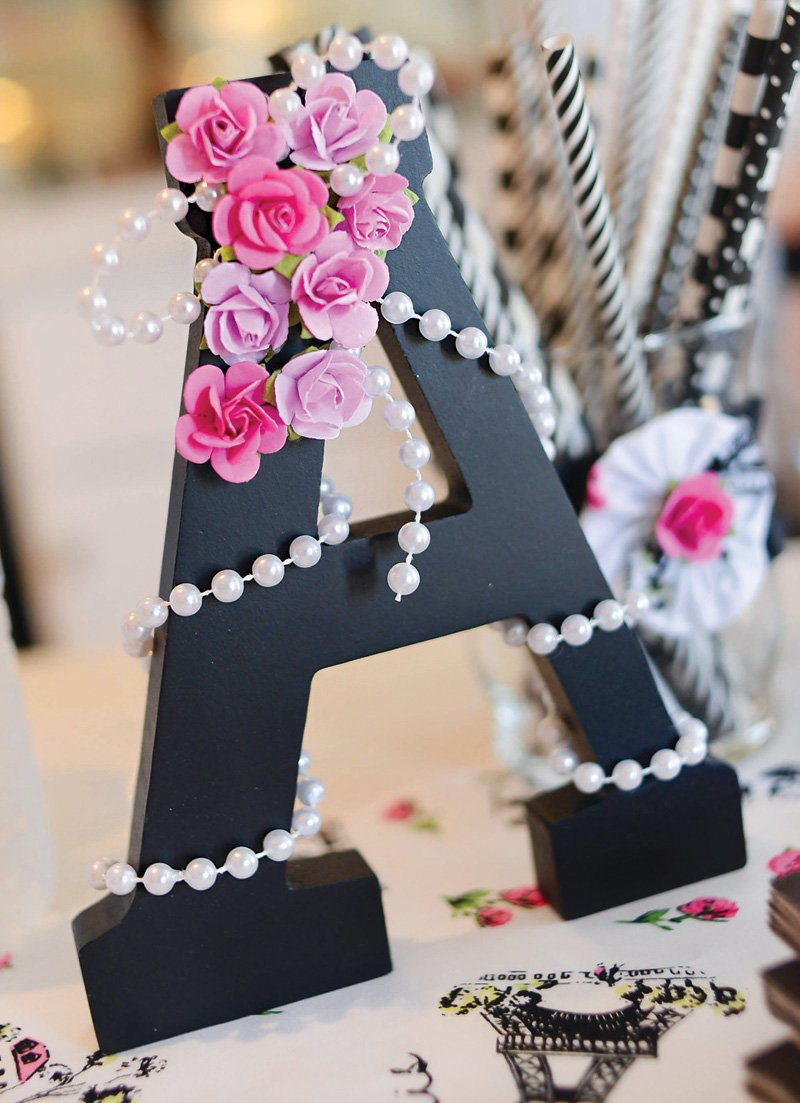 decorated monogram letter A