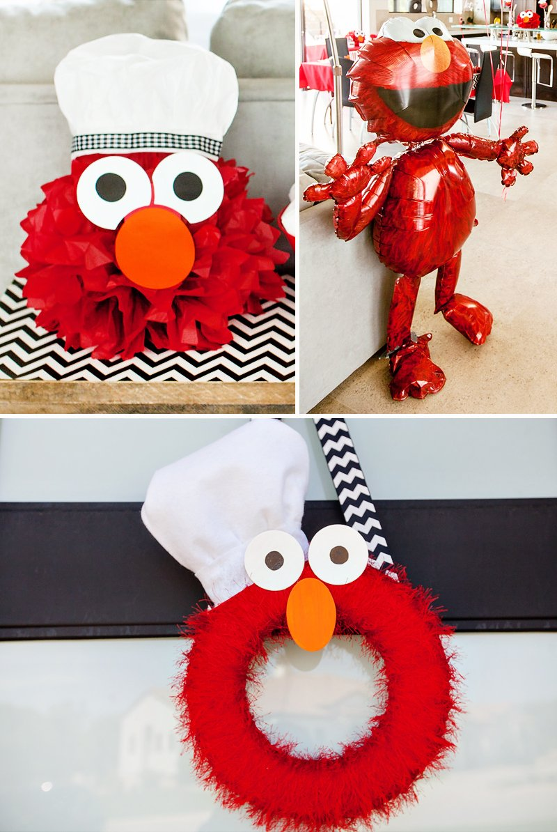 Chef Elmo Play Kitchen Inspired Birthday Party