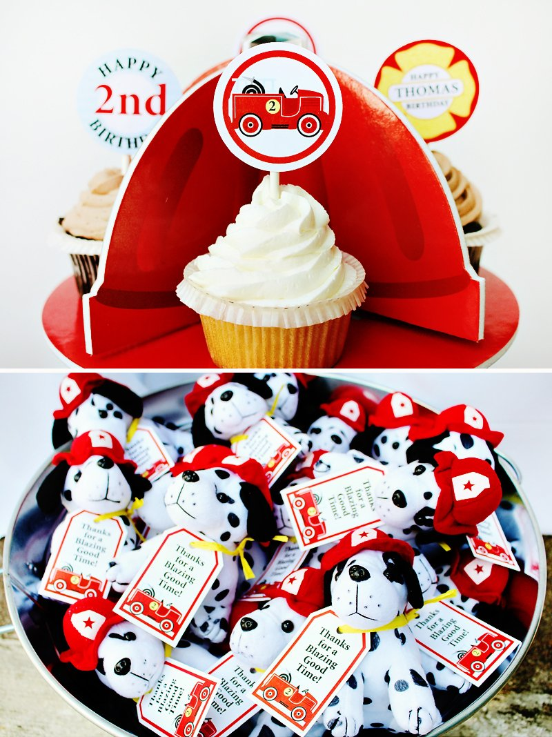 Firefighter Cupcake Decorations Bright Blazing Fireman Birthday Party Hostess With The Mostessr