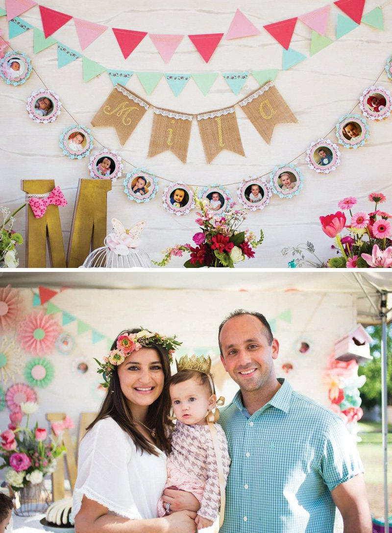 first birthday party buntings