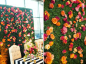 chic flower wall