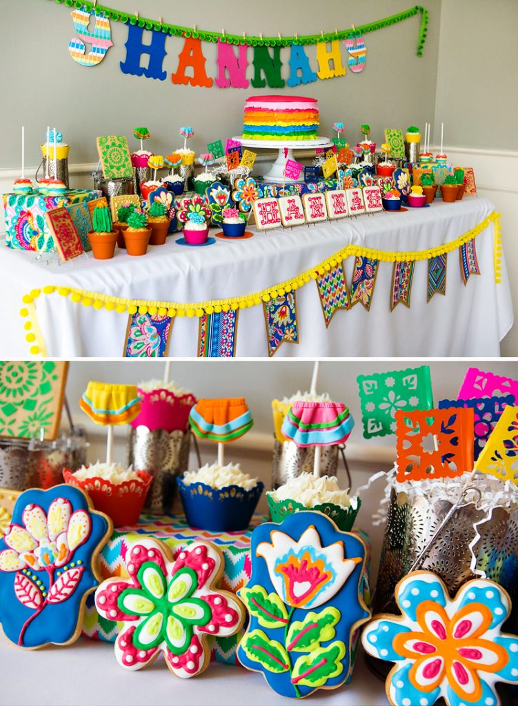 Bright colorful flower fiesta party hostess with the for Decor yo pops