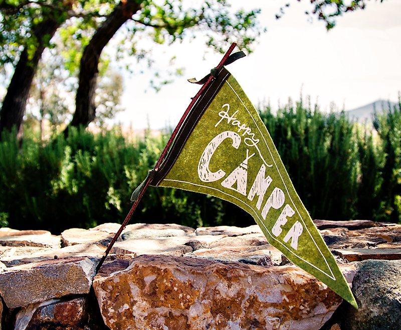 happy camper sign