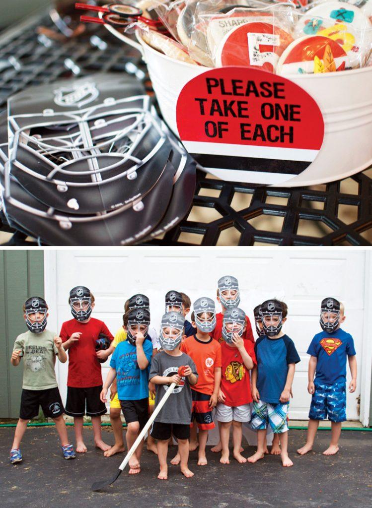 hockey birthday party favor ideas
