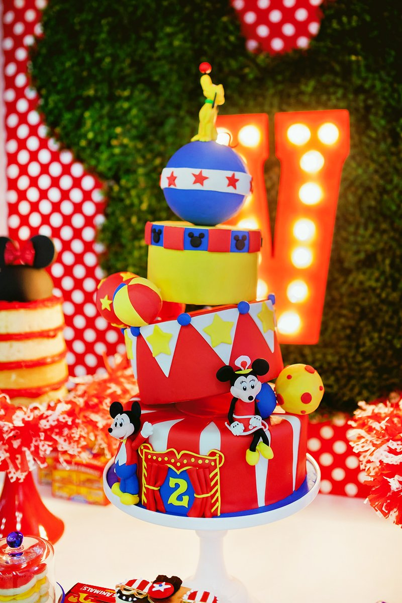 Dazzling Mickey Minnie Circus Birthday Party Hostess With The
