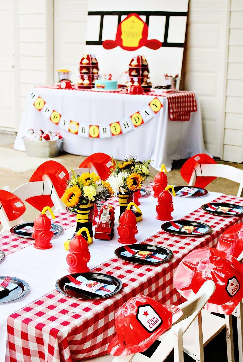 firetruck birthday party