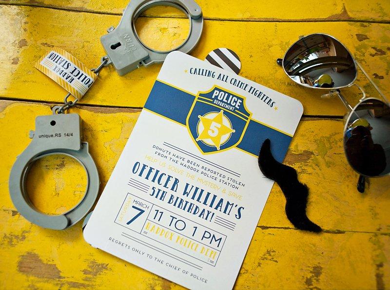 policeman party ideas