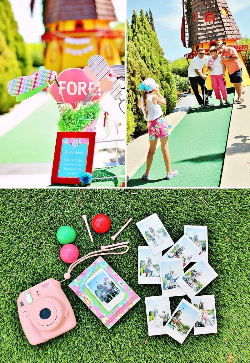 preppy mini golf party
