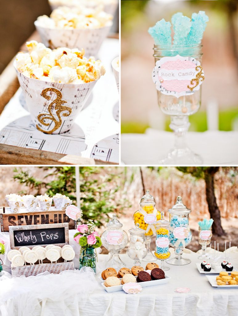 vintage wedding dessert bar