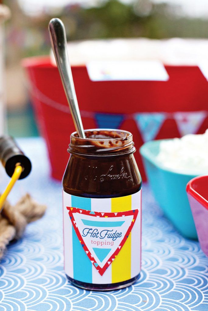 hot fudge topping - ice cream party