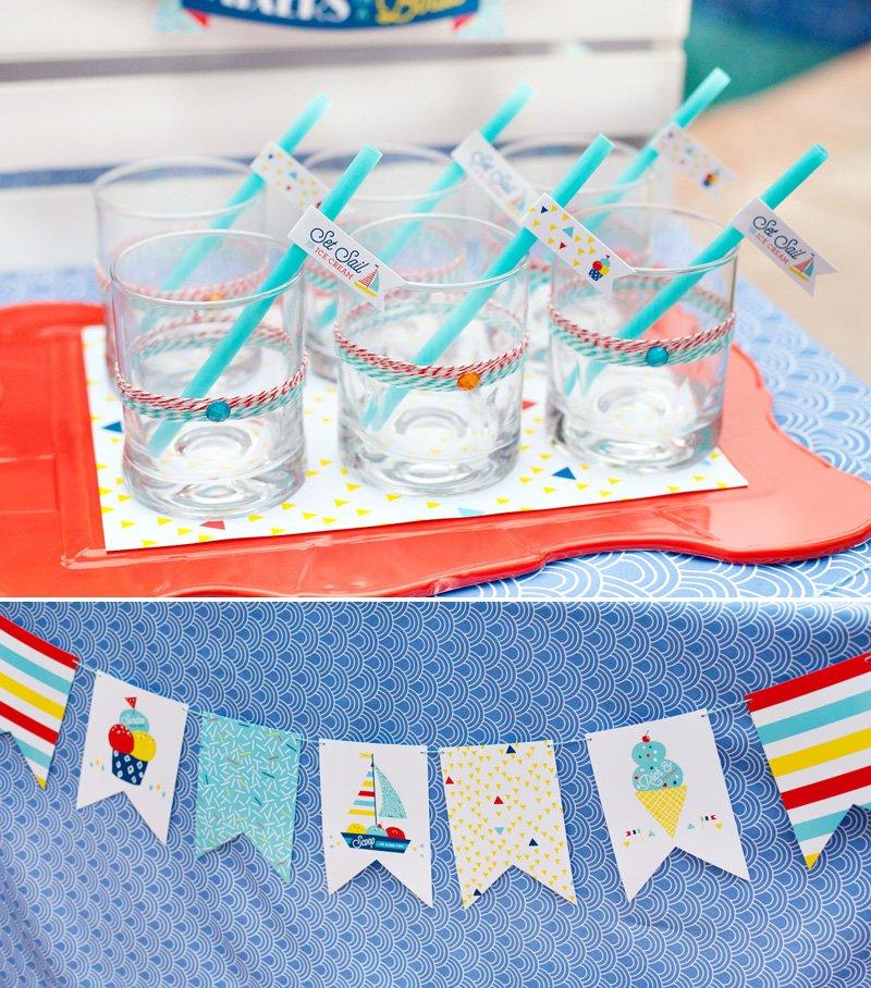 nautical ice cream party printables