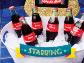 outdoor movie night drinks personalized