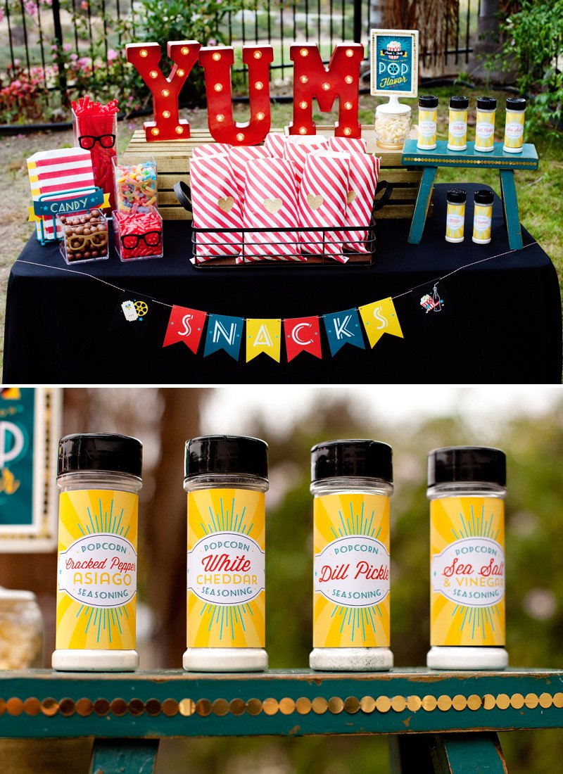 backyard movie night snack ideas
