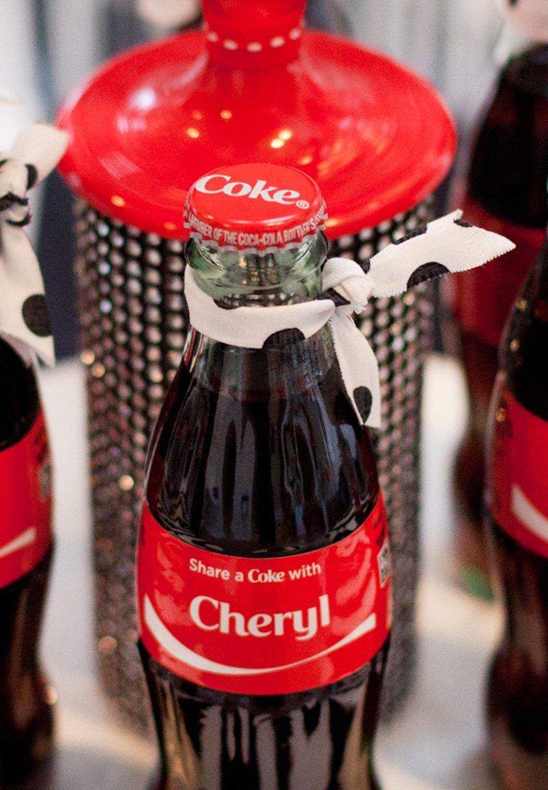 personalized coke bottles - retro party