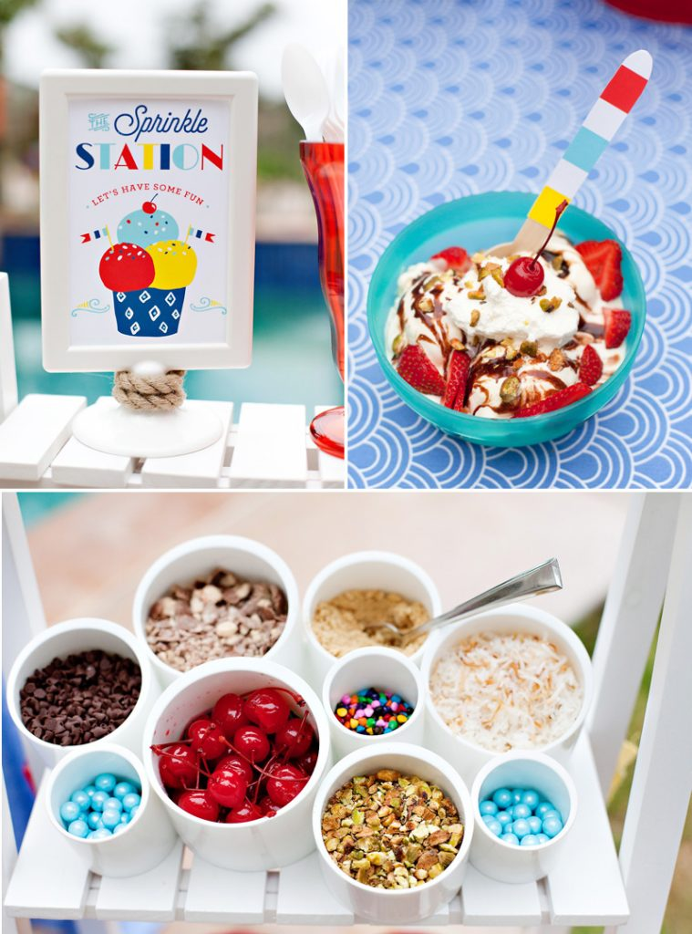 ice cream sundae bar topping ideas & sign