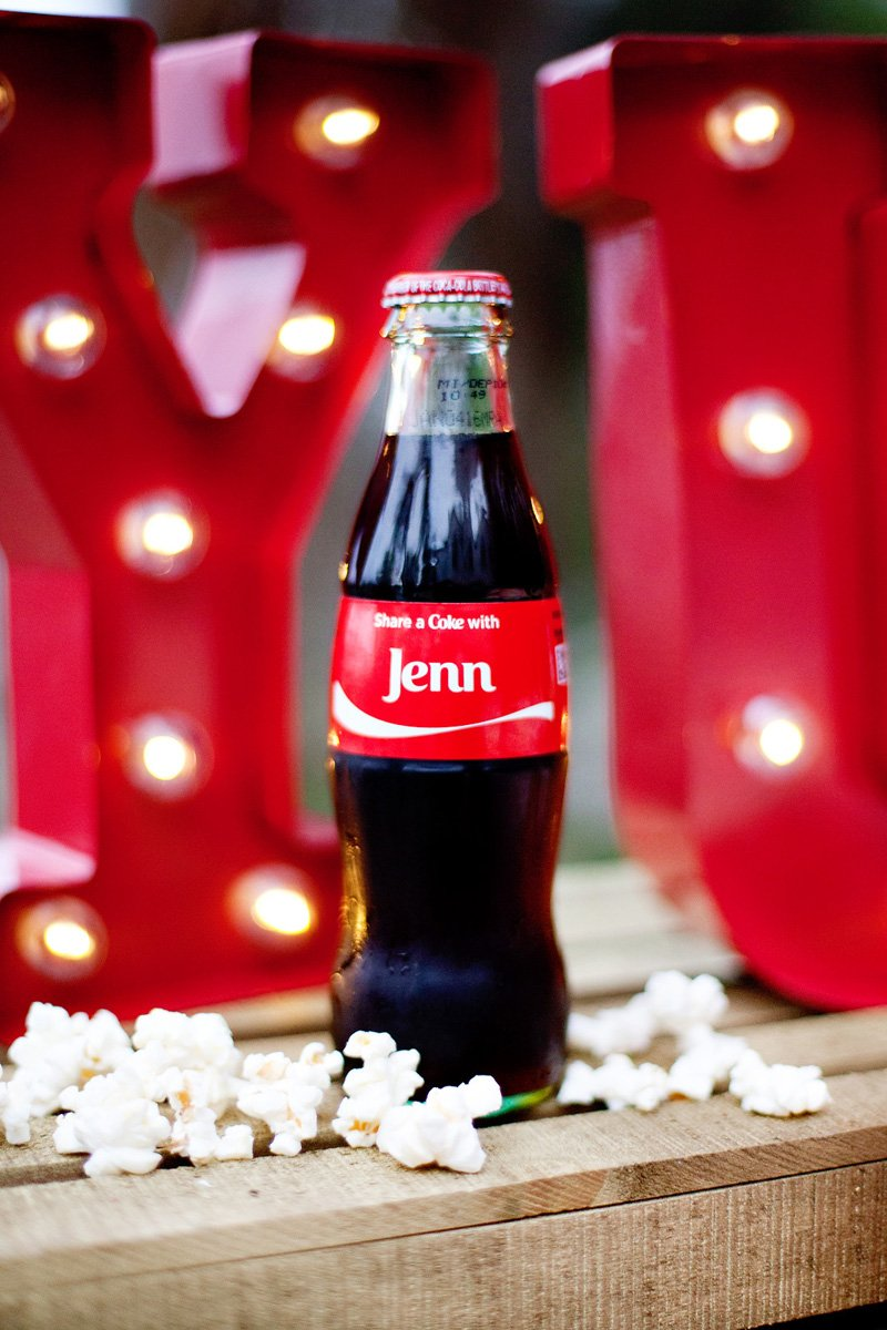 personalized coke bottles for movie night