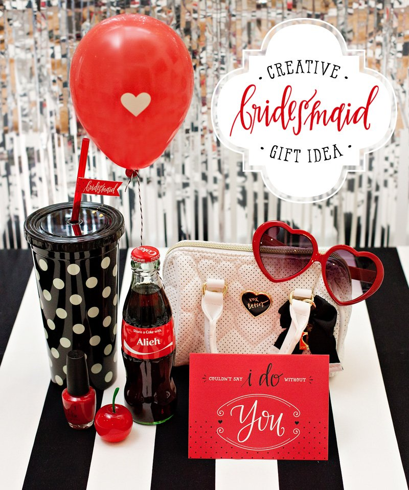 creative bridesmaid gift idea - retro inspired