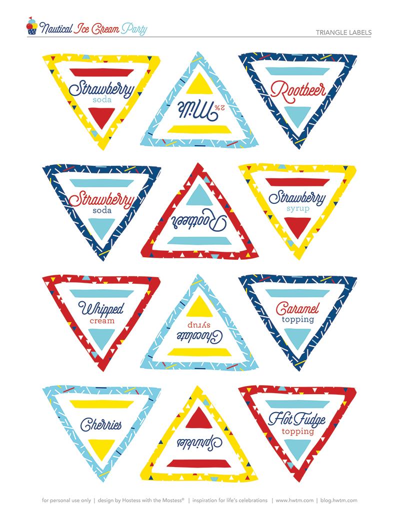Printable Nautical Ice Cream Bar Labels