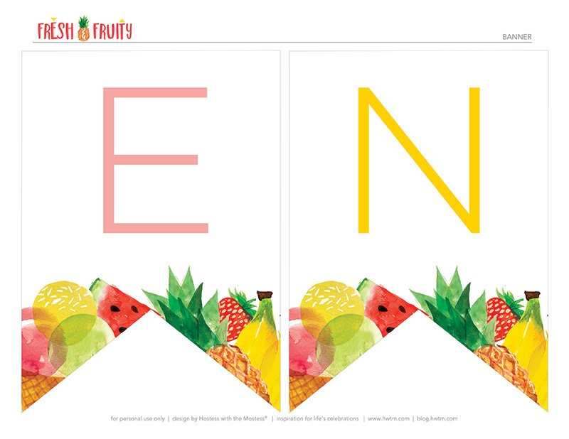Free Printable Fruit Banner