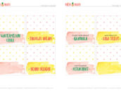 Free Printable Tent Cards
