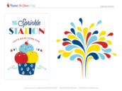 ice cream party printables - sprinkle station
