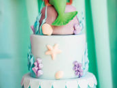 ariel topped little mermaid birthday cake