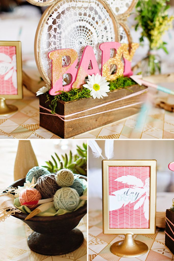 Boho Baby Shower Centerpieces ~ Dreamy bohemian baby shower os recap part hostess